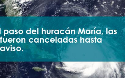 Comunicado para estudiantes de Ponce Paramedical College por motivo del paso del Huracán Maria (Actualizado)